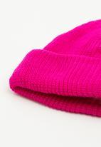 Superbalist - Rib turn up beanie - bright pink