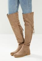 Miss Black - Dorota 3 over the knee boot - taupe