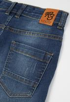 Ripstop - Fortuna basic denim shorts - blue