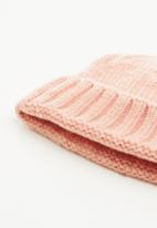 Superbalist - Knitted turn up beanie - beige