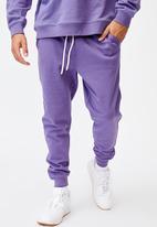 Cotton On - Trippy slim trackie - purple dream