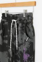 Rebel Republic - Fortnite tie dye jog pants - tie dye charcoal