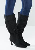 Madison® - Tiffany ruched boot - black