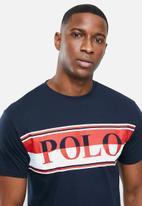 POLO - Peter crew neck logo short sleeve  tee - navy