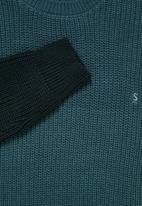 Superbalist - Block chunky crew knit - indigo