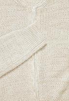 Superbalist - Zip-through knit bomber - oatmeal