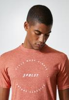Superbalist - Nate recycled graphic tee - rust