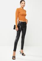 Glamorous - Shore knitted top - rust