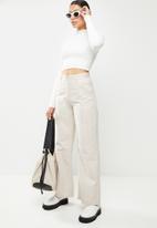 Glamorous - Cropped knit top - white