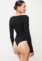 Glamorous - Tie front knit - black