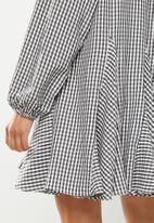 Glamorous - Gingham check dress - black & white