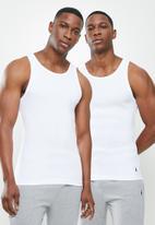 POLO - Liam 2 pack cotton vests - white