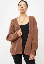 Missguided - Batwing cardigan - brown