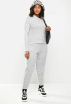 Blake - Soft Touch hoodie cropped - grey