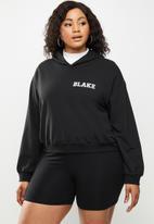 Blake - Cropped hoodie- black