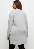 edit Plus - Ll drop shoulder roll neck tee - grey