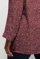 edit Plus - Mandarin collar shirt - multi