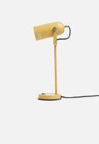 Present Time - Husk desk lamp - mustard
