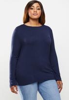 POLO - Plus toronto long sleeve basic T-shirt - navy