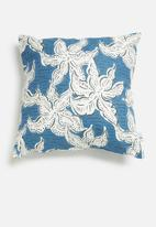 Sixth Floor - Flower pop cushion cover - blue & white