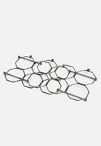 Present Time - Honeycomb wine rack - iron smokey grey