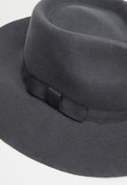 Freya Hats  - Leo wide brim hat - charcoal