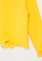 POP CANDY - Younger girls tie front sweat top - yellow