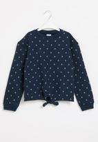 POP CANDY - Younger girls tie front sweat top - multi