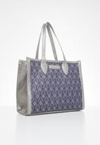 Pierre Cardin - Patricia print satchel - navy & silver