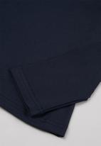 Superbalist Kids - Younger girls 2 pack polo neck tees - navy & white