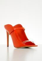 ALDO - Lisadell leather heel - red
