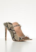 ALDO - Lisadell leather heel - black & white
