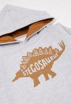 POP CANDY - Younger boys 2 pack graphic hoodies - brown & grey
