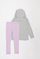 POP CANDY - Girls legging and hoodie set - grey & lilac