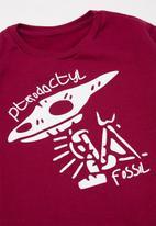 POP CANDY - Boys 2 pack graphic sweatshirts - maroon & charcoal melange