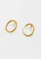 Lorne - Ovals earring - gold