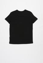 POLO - Boys logan cut & sew short sleeve tee - black