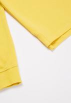 POLO - Boys warren long sleeve golfer - yellow