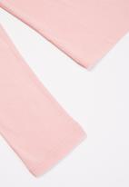 POLO - Girls chloe long sleeve polo neck - pink