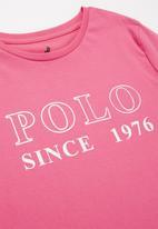 POLO - Girls zoe printed long sleeve tee - pink