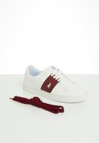POLO - Giselle side flash sneaker - red & white