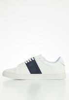 POLO - Giselle side flash sneaker - navy & white