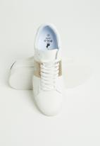 POLO - Giselle side flash sneaker - gold & white