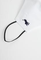 POLO - Men polo branded mask - white