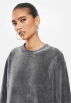 Glamorous - Oversized maxi jumper dress - grey