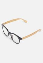 Sophie Moda - Reading glasses bamboo collection - black & brown