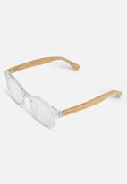 Sophie Moda - Reading glasses bamboo collection - clear/brown