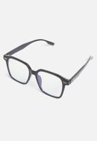 Sophie Moda - Glasses: anti-blue light angular collection - black