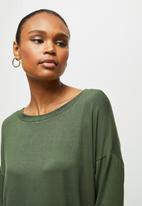 edit - Long sleeve harem jumpsuit - olive