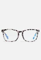 Sophie Moda - Anti-blue light classic colourful fashion 2 pack - black & white